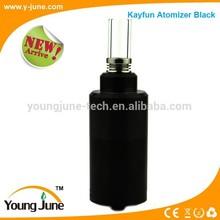 2015 hot Black Kayfun V4 RDA atomizer glass tank big vapor atomizer