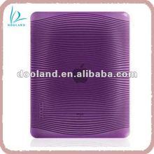 Fashion purple TPU case for new ipad