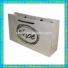 matte laminated tote shopping shoe bag with logo