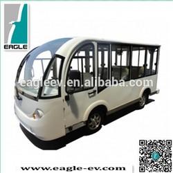 Electric shuttle bus, aluminum hard door, 14 seats ,EG6158KF, CE approved, brand new