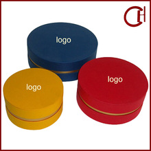 custom made luxury round candle box packaging/paper candle gift box