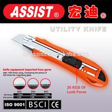 Assist Custom stainless steel utility knife blade fixed plastic utility knife cutter,utility knife