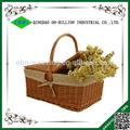 Barato vazio cestas de piquenique de vime com tampa