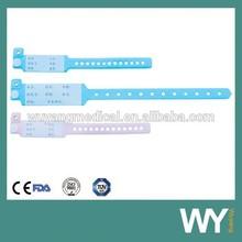 plastic medical id bracelets, medical alert Id bracelet,kits Id bracelet