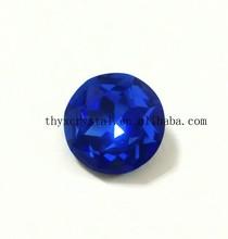 Super shiny round blue crystal stone for wedding clothing