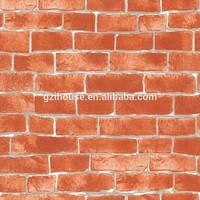 pvc brick textured design of 3d wallpaper