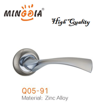 high quality brushed nickel zinc lever door handle