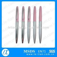 LT-P258 Best Popular Bottom Price Pink Metal Ballpoint Pen for promotion advertisement
