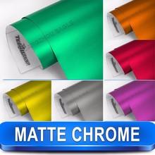 Strechable Red Metallic Chrome car wrap vinyl film 1.52*20m