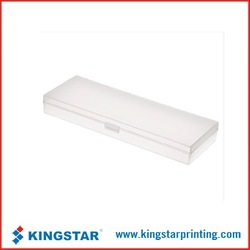 pp button stationery box,pp clear plastic box,pp folding packing pencil box