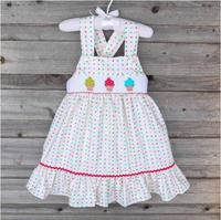 shift style smocked cross back infant dress baby dress toddler dress