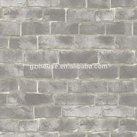 2015 pvc brick textured design 3d design wallpaper