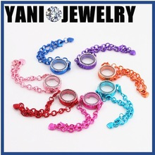 Handmade Origami owl jewelry trends 2015 high quality mixed colors mens alloy metal floating locket bracelet