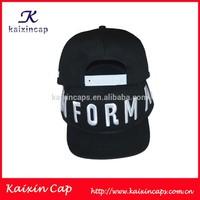 black 3D embroidery snapback hats 5 panel caps headwear