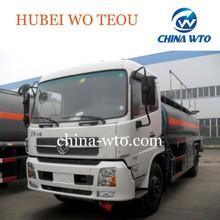DongFeng tianjin 4*2 aluminum liquid chemical tank truck ,mini transporter fuel tanker truck with flammable liquid,