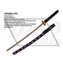 "47"" overall length wooden katana wood toy katana sword sale"