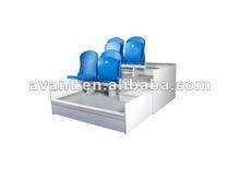 sport Enterainment seatway retractable indoor tribune telescopic folding plastic seating flex grandstand. portable bleacher