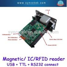 Smart Hybrid RS232 manual insert locking gaming machine magnetic card reader