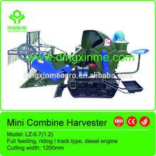 riding 10hp mini rice harvester/ wheat harvester/ soybean combine harvester