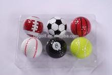 2 pieces Sports golf ball soccer ball ,basket ball