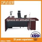 wood veneer l-shape executive table