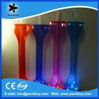 Promotional led beer yard glass,flashing led plastic yard glass