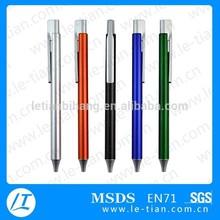Pb-034 buena escritura de plástico bolígrafo marca plumas
