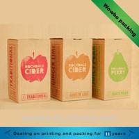 small corrugated fruit juice packing carton