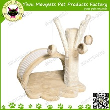 wholesale small size cat tree with dangling hangling toy