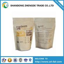 custom printed natural brown kraft paper ziplock stand up pouch coffee scrub bag