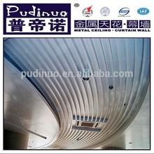 Customized arc shape metal stretch ceiling