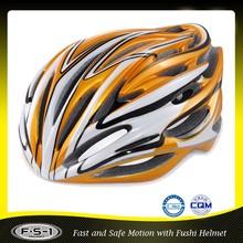 Wind-noise reducing street xs-l gold aerodynamic bike helmet