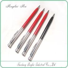 2015 Hot sale cheap new twist action metal slim hotel pen