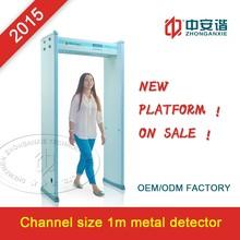 Extra width walk through metal detector