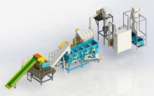 PE PET HDPE PP Scrap plastic crushing washing pelletizing system line plant