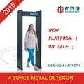 Caminhe - através Metal Detector com 4 zonas, Desempenho de custo elevado e Super alta sensibilidade