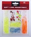 In gomma multicolor/plastica artificiali morbide esche da pesca assortimento carrelli elettrici da pesca