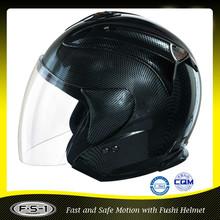Barato legal abrir rosto motocicleta capacete de fibra de carbono