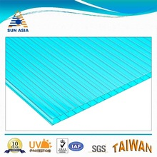 6mm bluegreen UV Twinwall Polycarbonate Sheet