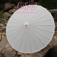 Wholesale Stock Market Wedding White Paper Umbrella