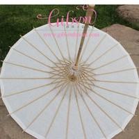 42cm Radius White Paper Umbrella For Wedding