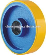 2014 good selling Europe model wheel good quality yellow pu wheel 150*40 width