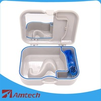 Denture Box with mirror and brush