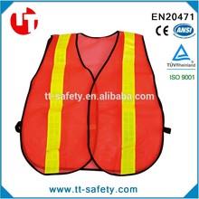 CE 100% polyester mesh reflective safety vest