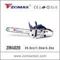Herramienta de jardín zomax zm4020 39.6cc motosierra/sierra cadena socio con sistema de encendido cdi