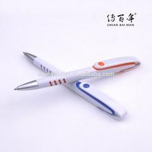 Promotional white pen in plastic