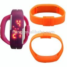 new design 2015 fashion water resist LED wrist watch