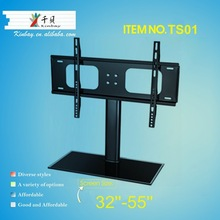 Glass panel mounting brackets furniture tv retractable supports