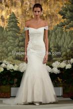 Mermaid Floor Length Sweetheart Off Shoulder Organza Custom Bridal Gowns Vestidos De Novia WDZ034 China Wedding Dresses