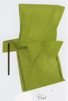 disposable chair covers and bow for banquet